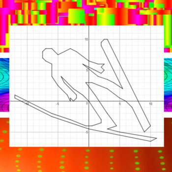 Ski Jump - 15 Systems & Coordinate Graphing Activity