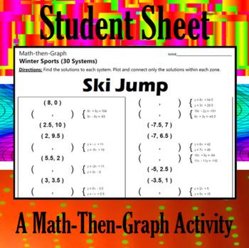Ski Jump - A Math-Then-Graph Activity - Solve 30 Systems