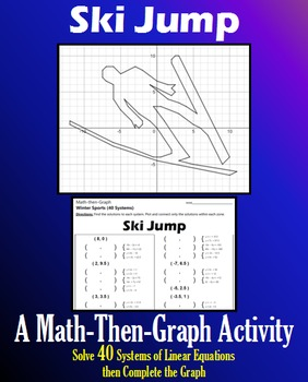 Ski Jump - 40 Systems & Coordinate Graphing Activity