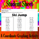 Ski Jump - A Coordinate Graphing Activity