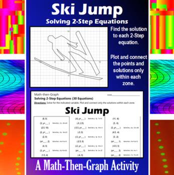 Ski Jump - Solving 2-Step Equations - A Math-Then-Graph Activity