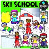 Ski School Clip Art Set {Educlips Clipart}