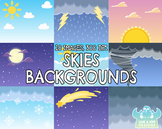 Skies Backgrounds (Lime and Kiwi Designs)