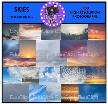 Skies Photo Set {Educlips}