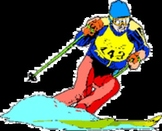 Skiing - A Popular Winter Sport -  Text and Worksheets