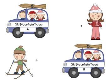 Skiing Alphabet Matching