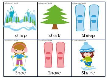 Skiing Articulation SH, CH, J