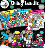 Skiing bundle clipart-90 items!