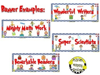 Skill Banners (Reading, Writing, Math, Science) ~ Nautical