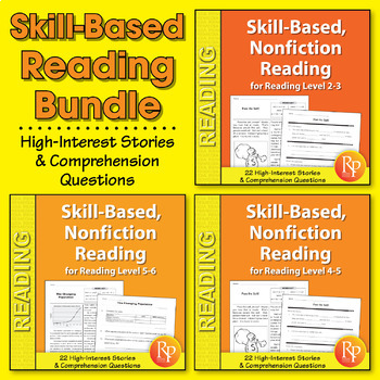 Skill-Based Reading Strategies w/Nonfiction Stories {Bundle}