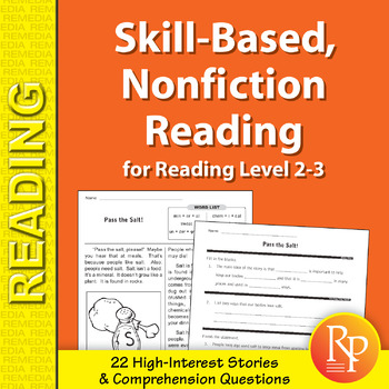 Skill-Based Reading Strategies w/Nonfiction Stories for Rdg. Level 2-3