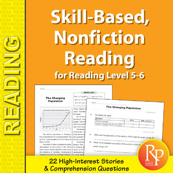 Skill-Based Reading Strategies w/Nonfiction Stories for Rdg. Level 5-6
