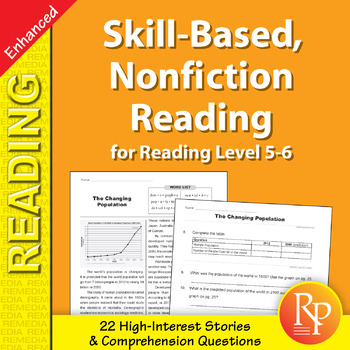 Skill-Based Reading Strategies w/Nonfiction Stories for Rdg. Lvl. 5-6 - Enhanced