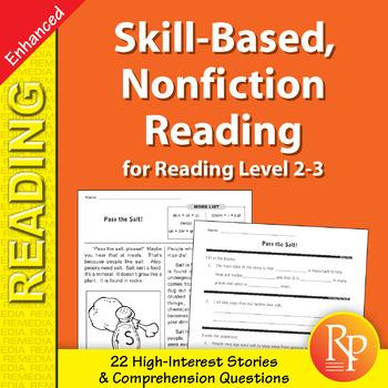 Skill-Based Reading Strategies w/Nonfiction Stories for Rdg. Lvl. 2-3 - Enhanced