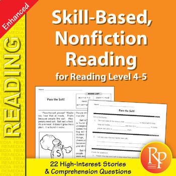 Skill-Based Reading Strategies w/Nonfiction Stories for Rdg. Lvl. 4-5 - Enhanced