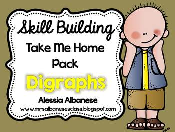 Skill Building Take Me Home Pack - Digraphs
