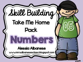 Skill Building Take Me Home Pack - Numbers