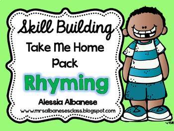 Skill Building Take Me Home Pack - Rhyming