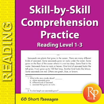 Skill-By-Skill Comprehension Practice (Reading Level 1-3)