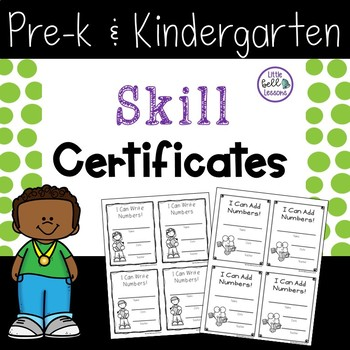 Skill Certificates for Pre-K and Kindergarten
