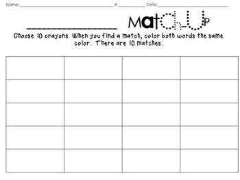 Skill Match-Ups {Editable}