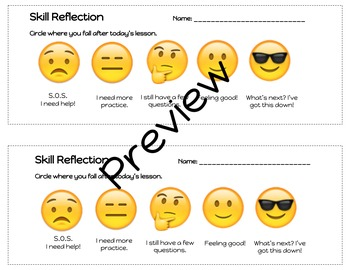 Skill Reflection / Exit Ticket