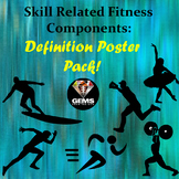 Skill Related Fitness Component Poster Pack!