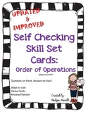 Skill Set Cards- Order of Operations