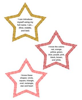 Kindergarten Skill Stars