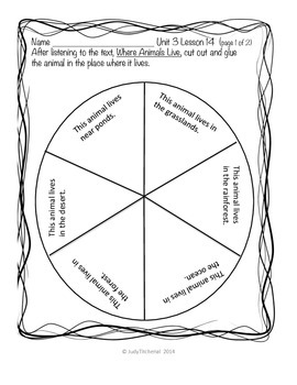 Skill Support for the Journeys Reading Series-Unit 3 Lesson 14