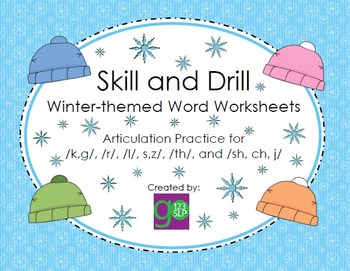 Skill and Drill Winter-themed Word Activity