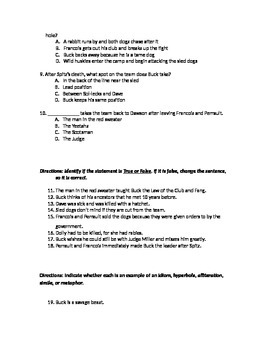 Skill and comprehension test for Call of the Wild