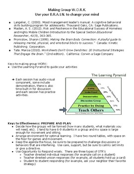 Skill building Group Curriculum