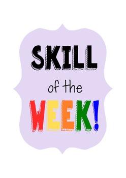 Skill of the Week Full Program: Behavior, PBIS, Social Skills, School Wide