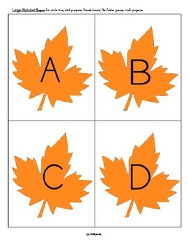 Leaves Basic Skills Practice Letters Numbers Shapes Hands-On Centers