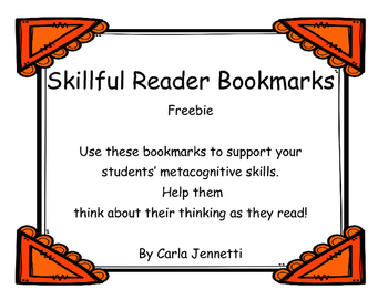 Skillful Reader Bookmark Freebie