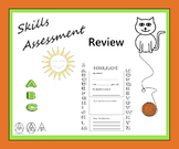 Skills Assessment Review - Begin / End Year - Letters Numbers Math Colors Puzzle