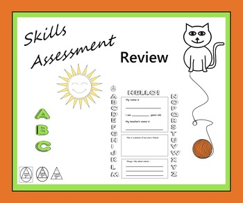 Skills Assessment Review - Begin / End Year - Letters Numb