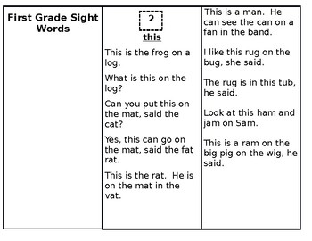 Skills Book 4---1st Grade Sight Words
