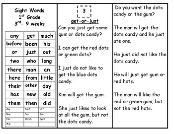 Skills Book 6--1st Grade Sight Words--Continued