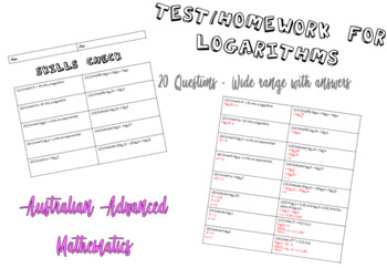 Skills Check, Homework or Test