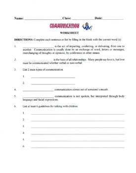 Skills In Communicating In Relationships Lesson