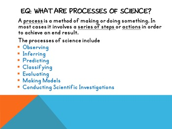 Skills In Science Presentation and Guided Student Notes