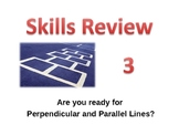 Skills Review 3 - Parallel and Perpendicular Lines