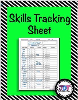 Skills Tracking Sheet