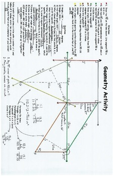 Skills-based Geometry Activity, Polygons, Area, Quadrilaterals, Triangles, 11x17
