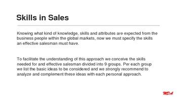 Skills in Sales