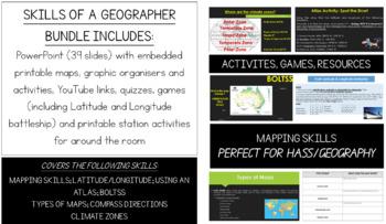 Skills of a Geographer Bundle - MAP SKILLS