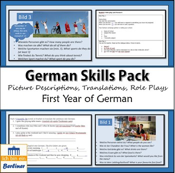 Skills pack beginners German - translation, picture description, role play