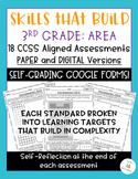 Third Grade Area Assessment Bundle: All CCSS {Google Classroom & PDF Included}
